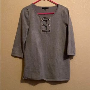 Cable and gauge blouse